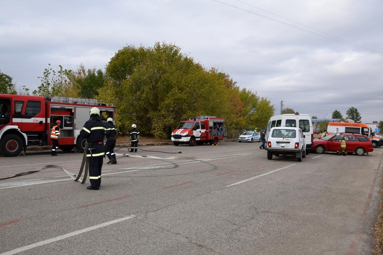 Организация за реагиране при ПТП демонстрираха екипите на Единната спасителна система в област Видин