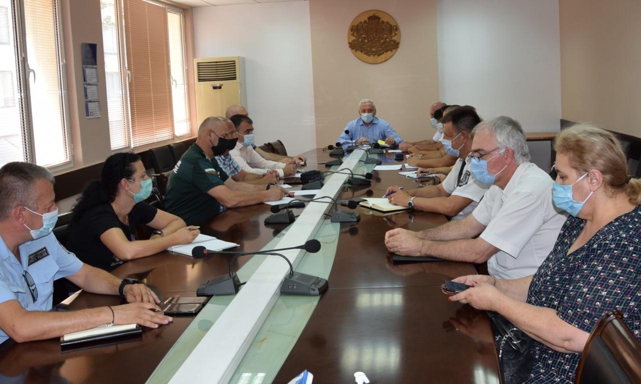 Националният оперативен план за справяне с пандемията от SARS-CoV-2 бе обсъден на заседание на Областния временен кризисен щаб за оценка на риска в област Видин