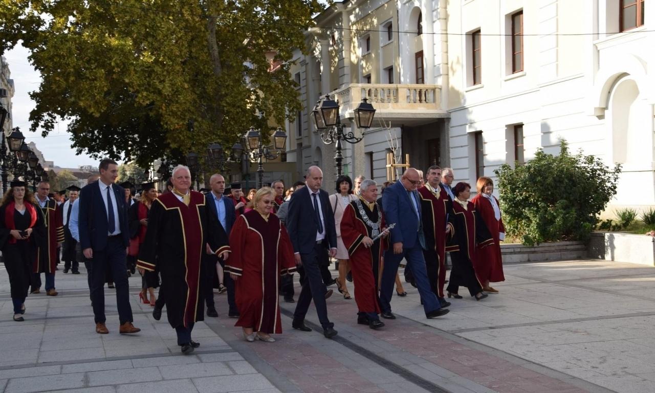 Тържествена церемония по връчването на дипломите на Първия Випуск на Филиал Видин на Русенския университет